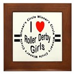Roller Derby Framed Tile