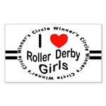 Roller Derby Rectangle Sticker