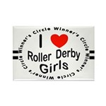 Roller Derby Rectangle Magnet