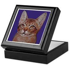 Abyssinian Cat Keepsake Box