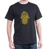 Hamsa (Hand of God) Black T-Shirt
