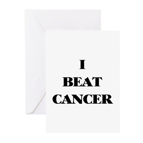 I BEAT CANCER on a Greeting Card - 6 Per Pack