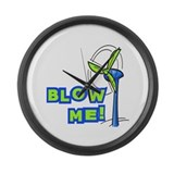Blow Me Wind Power Large Wall Clock