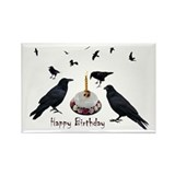 Crows Skull Cake Rectangle Magnet