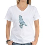 Lavender West Mottle Women's V-Neck T-Shirt
