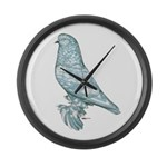 Lavender West Mottle Large Wall Clock