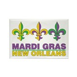 Mardi Gras Rectangle Magnet (10 pack)