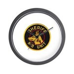 Sheriff K9 Unit Wall Clock