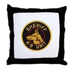 Sheriff K9 Unit Throw Pillow