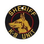 Sheriff K9 Unit Ornament (Round)