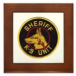 Sheriff K9 Unit Framed Tile