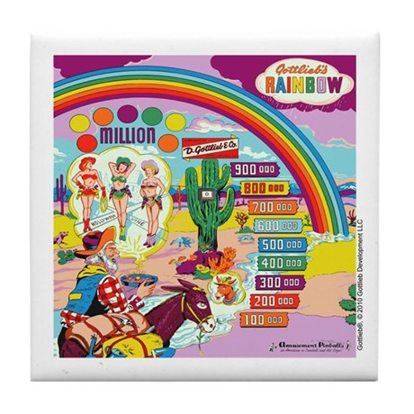 "Gottlieb® ""Rainbow"" Tile Coaster"