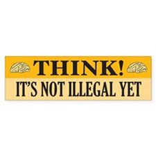 Think! Bumper Bumper Sticker