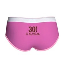 30 with Attitude Women's Boy Brief
