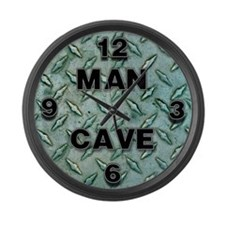 Man Cave Large Wall Clock