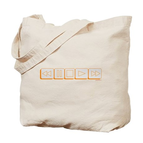 Play Pause Rewind Tote Bag