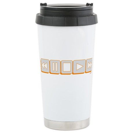 Play Pause Rewind Ceramic Travel Mug