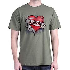 Jacob Black Tattoo Heart T-Shirt