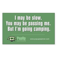 I'm Going Camping Decal
