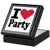 I love party Keepsake Box