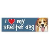 I Love My Shelter Dog Bumper Bumper Sticker