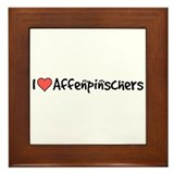 I heart Affenpinschers Framed Tile