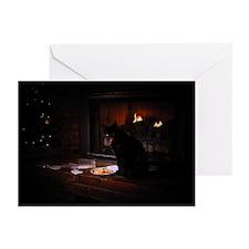 Bad Black Cat Christmas Greeting Cards (Pk of 20)