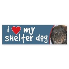 I Love My Shelter Dog Aust Shep Mix Bumper Bumper Sticker
