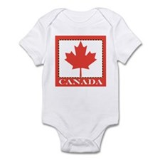 Canada with Red Maple Leaf Onesie