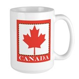 Canada with Red Maple Leaf Mug