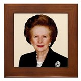 Lady Thatcher Framed Tile