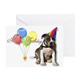 pit bull,amstaff,bully puppy Greeting Card
