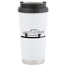 1966-67 Coronet Black Car Ceramic Travel Mug