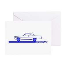 1966-67 Coronet Blue Car Greeting Cards (Pk of 20)