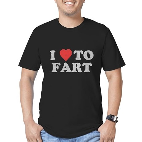 I Love To Fart Mens Fitted Dark T-Shirt