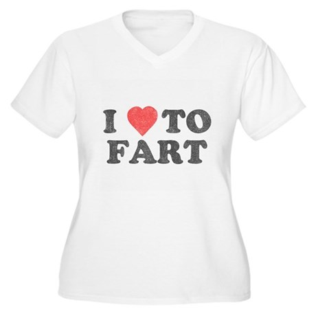 I Love To Fart Plus Size V-Neck Shirt