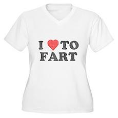 I Love To Fart Plus Size V-Neck Shirt