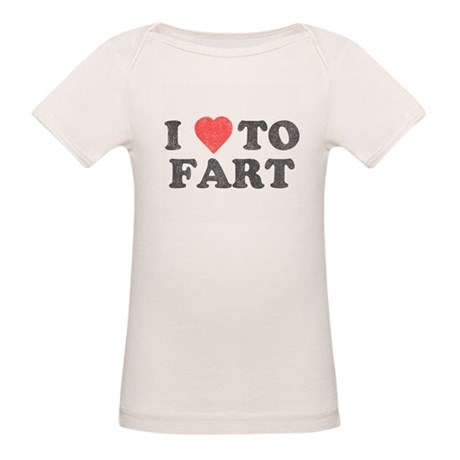 I Love To Fart Organic Baby T-Shirt