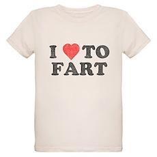 I Love To Fart Organic Kids T-Shirt