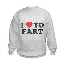 I Love To Fart Kids Sweatshirt