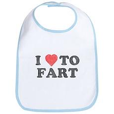 I Love To Fart Bib