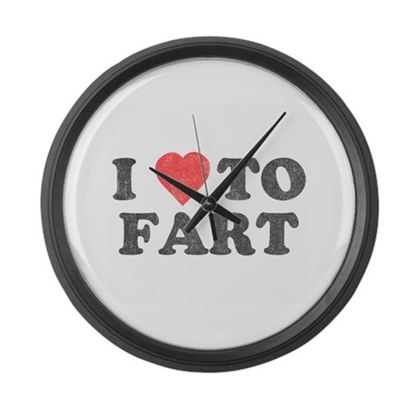 I Love To Fart Large Wall Clock