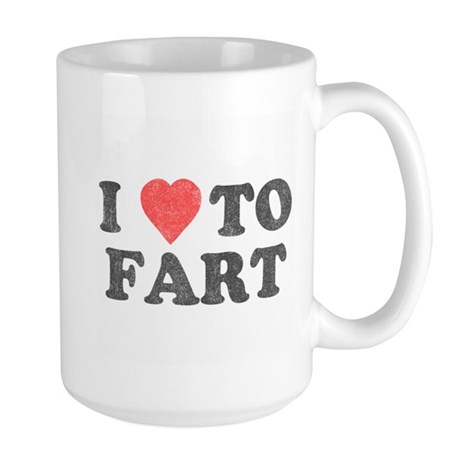 I Love To Fart Large Mug
