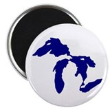 "Great Lakes 2.25"" Magnet (100 pack)"