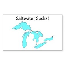 Saltwater Sucks! Decal