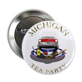 "TEA Party - Michigan 2.25"" Button"