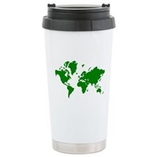 World map Ceramic Travel Mug