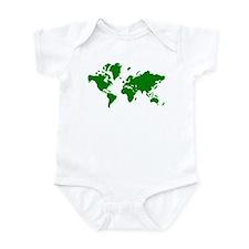 World map Infant Bodysuit
