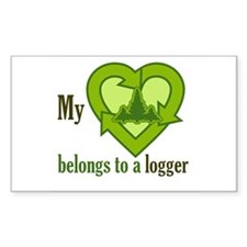 My Heart Belongs to a Logger Decal