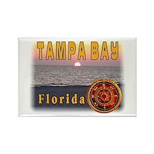Tampa Bay Florida compass ros Rectangle Magnet